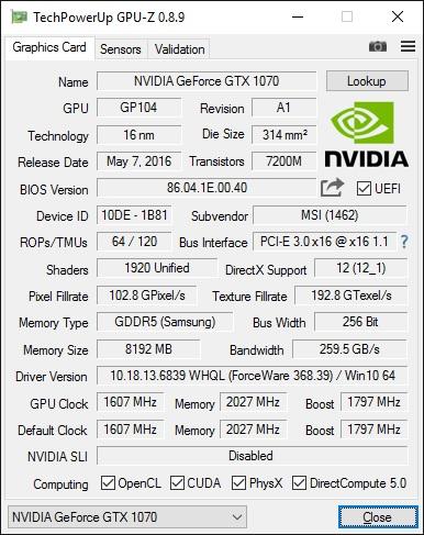 GPU-Z v8.9