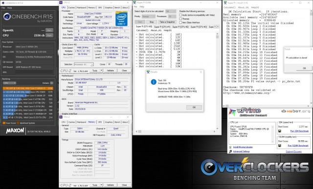 4.5 GHz 1.37V, 3200 MHz Memory