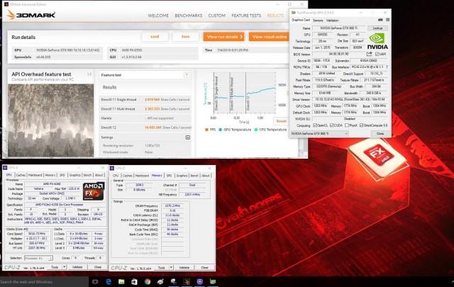 FX 6350 @ 5.0 with GTX980Ti