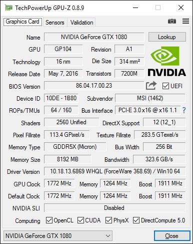 GPUz v8.9