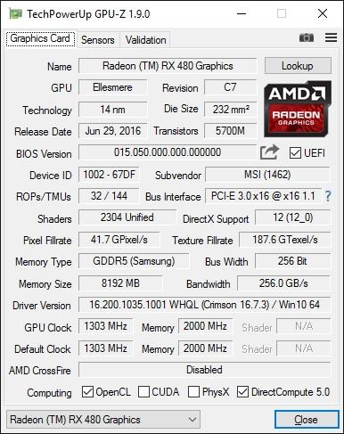 GPU-z v1.9
