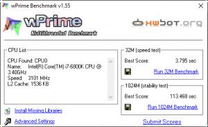 wPrime 3.4GHz