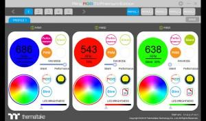 Thermaltake Riing 14 Premium Fans App Shot