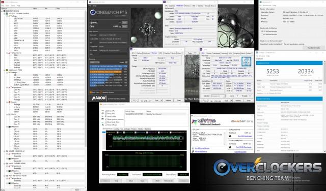 5 GHz @ 1.41V, Memory at XMP 3866 CL 18