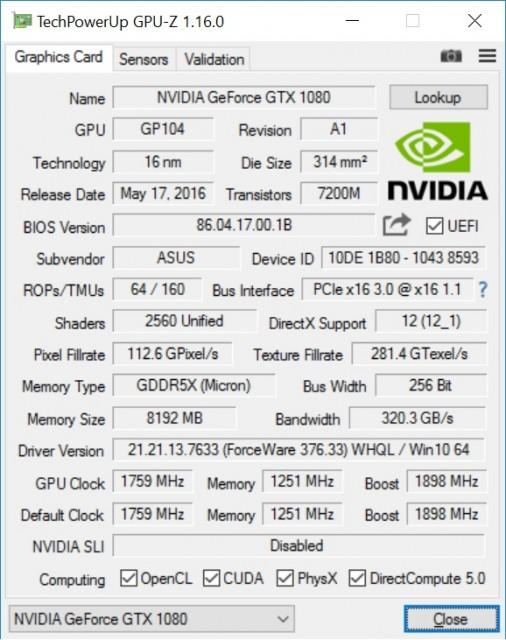 GPUz v1.16.0