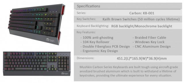 Carbon KB-001 RGB LED Mechnical Keyboard