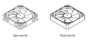 Noctua Accessories Open/Closed Corner Fans