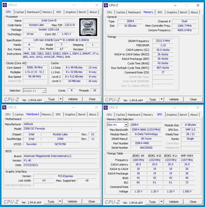 XPG SPECTRIX D45G - CPUz - 5066c19