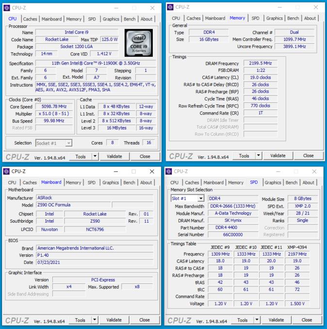 XPG SPECTRIX D45G - CPUz - XMP