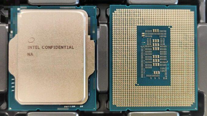 Intel Alder Lake-S Leaked Image